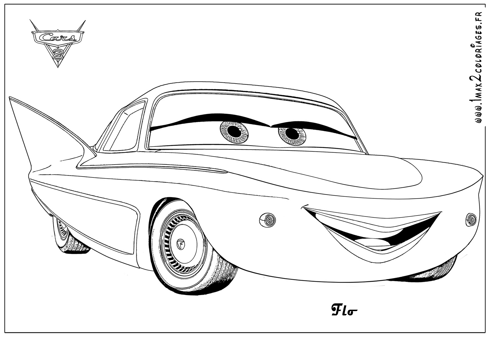 Coloriage cars flash mcqueen les beaux dessins de - Coloriages de cars ...