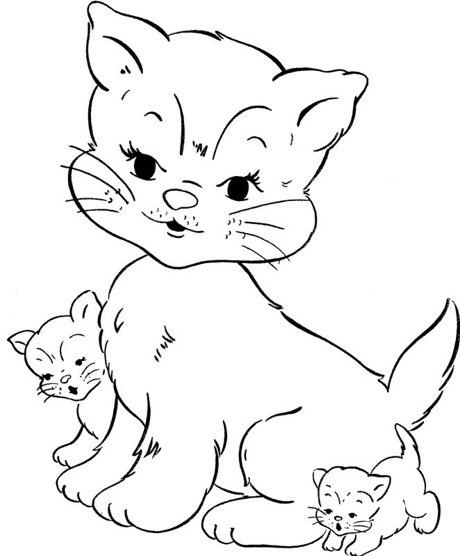 coloriage de cat