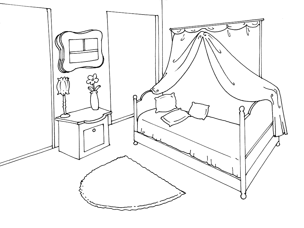 coloriage chambre les beaux dessins de autres imprimer et colorier. Black Bedroom Furniture Sets. Home Design Ideas