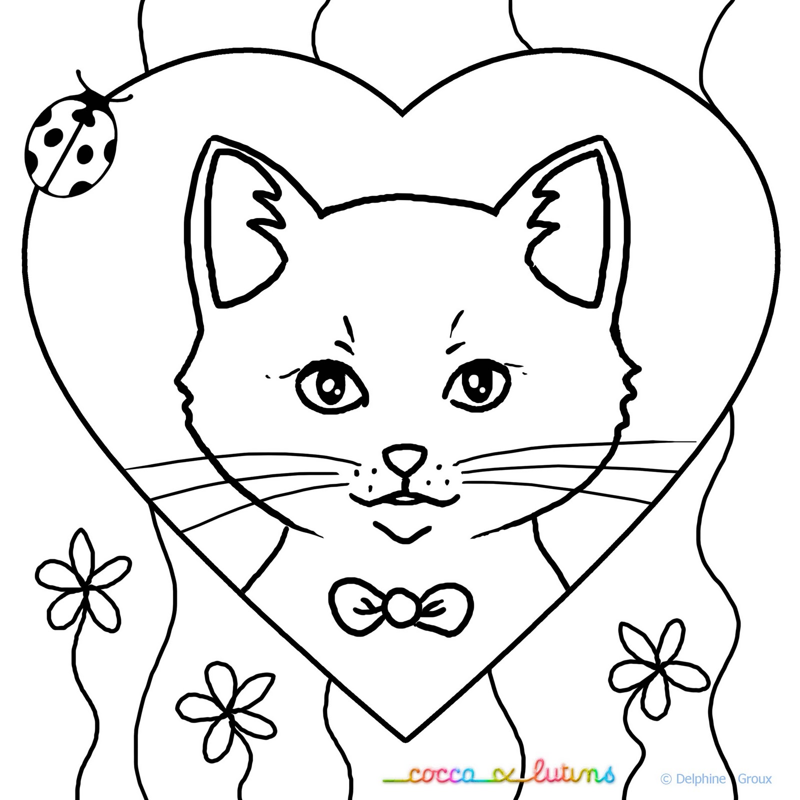dessin de chat imprimer coloriage de chat with coloriage de chat