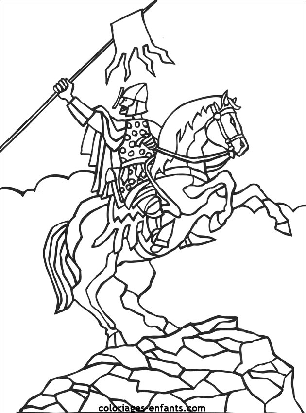 coloriage de chevalier