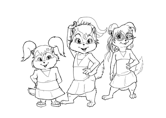 coloriage de chipmunks