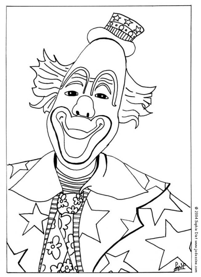coloriage de clown