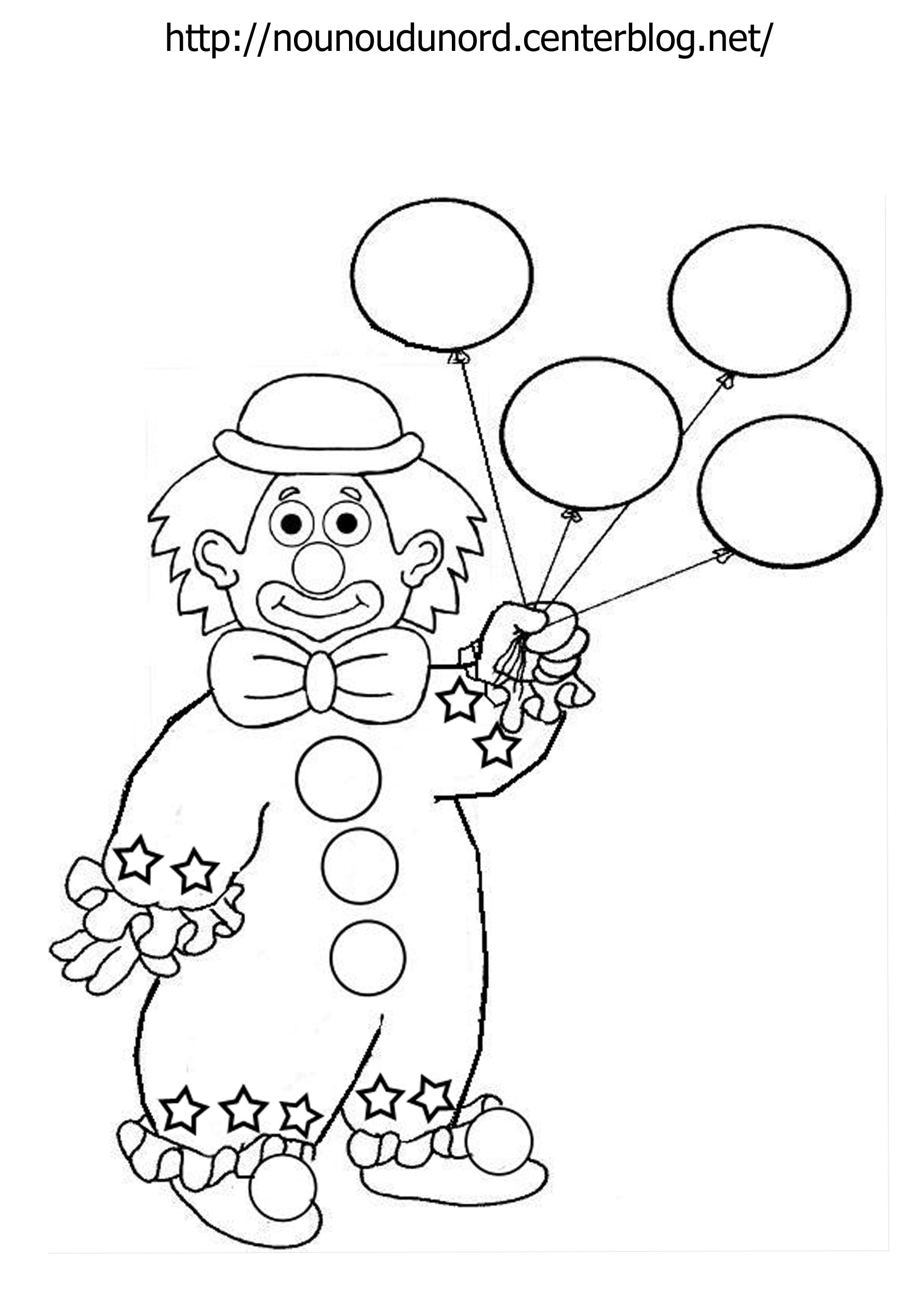 coloriage de clowns