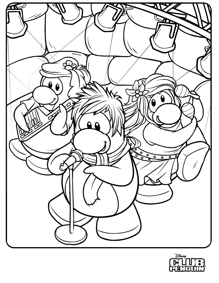 coloriage de clubpenguin