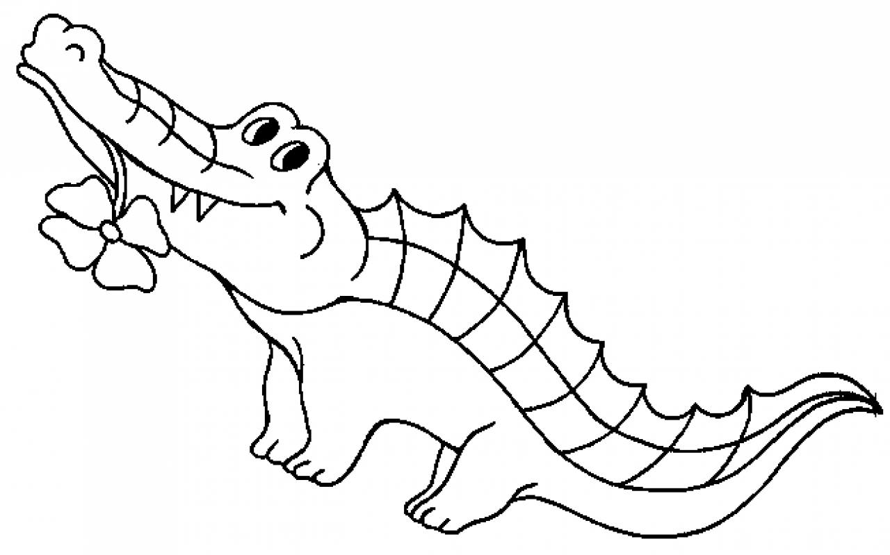 coloriage de crocodile