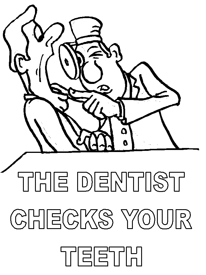 coloriage de dentiste