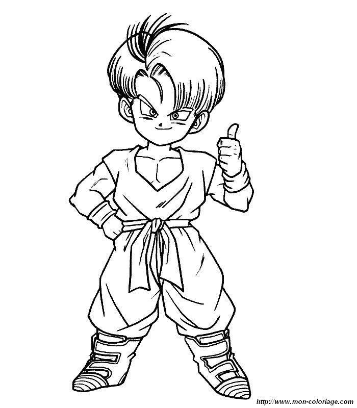 coloriage de dragonballz