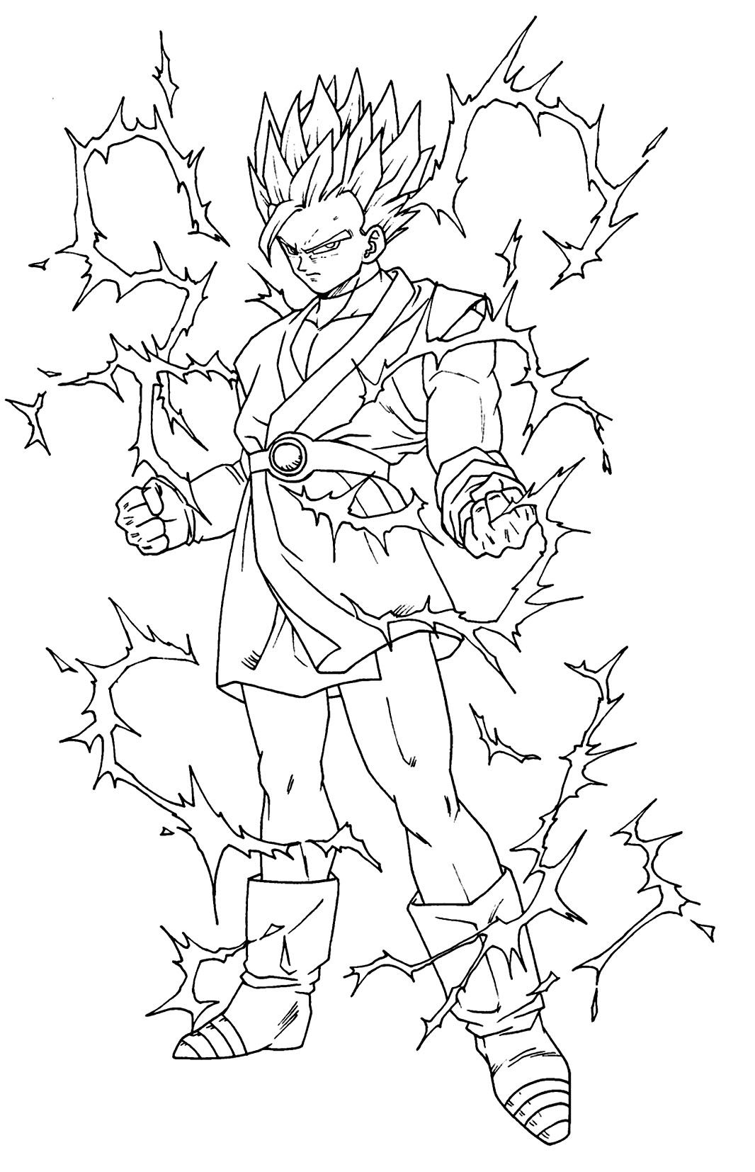 Coloriage dragon ball z les beaux dessins de dessin - Coloriage sangohan ...