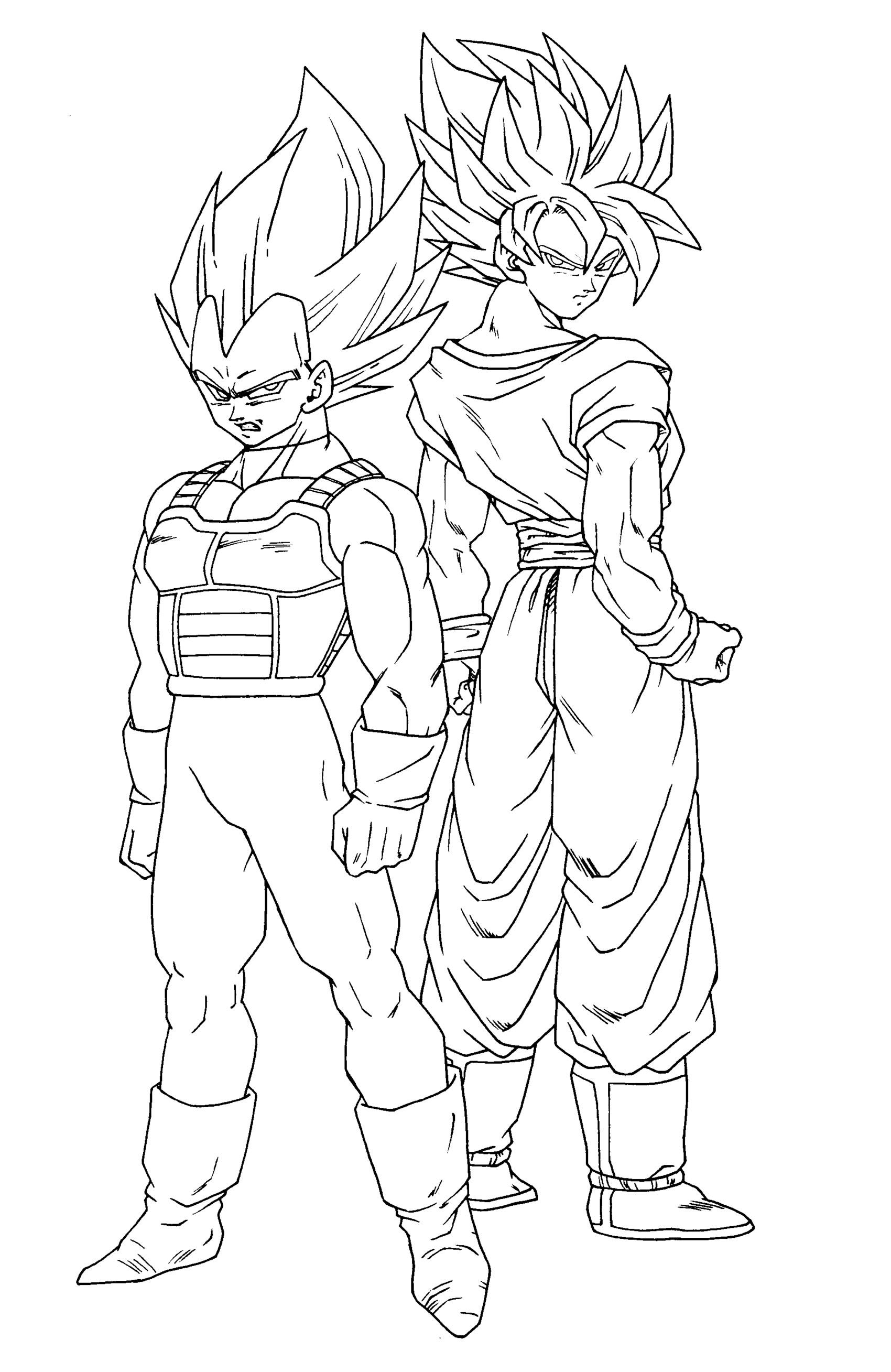 Coloriage dragon ball z les beaux dessins de dessin - Dessin de vegeta ...