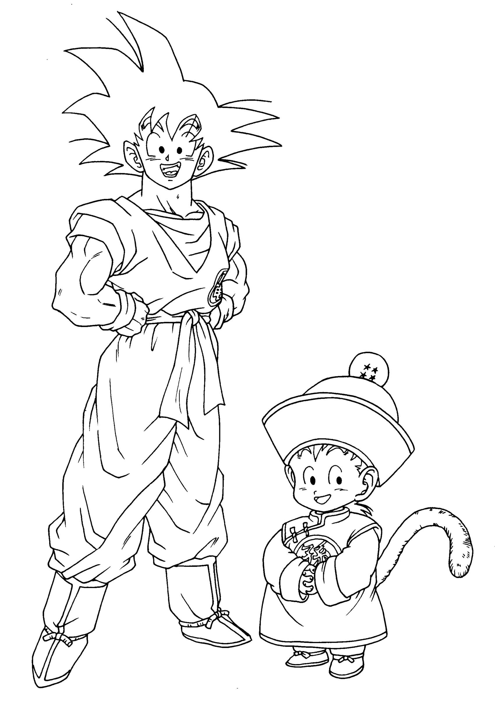 Coloriage dragon ball z les beaux dessins de dessin anim imprimer et colorier page 3 - Dessin de dragon ball super ...