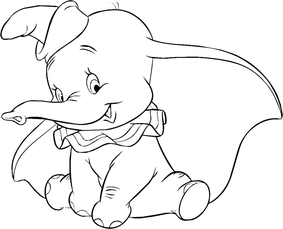 coloriage de dumbo