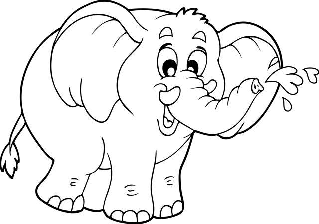 coloriage de elephant