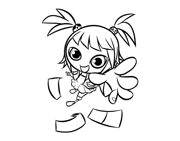 coloriage de fillemanga