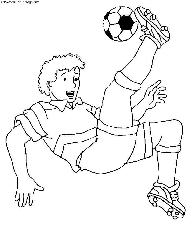 coloriage de football