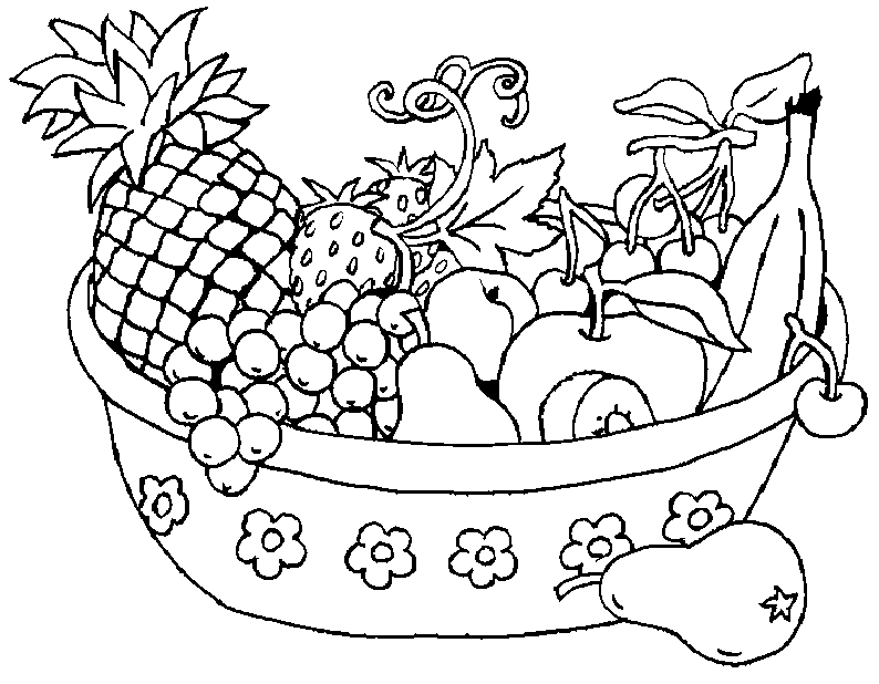 coloriage de fruit