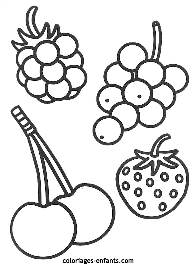 Fruit Dessin coloriage fruit - les beaux dessins de nature à imprimer et colorier