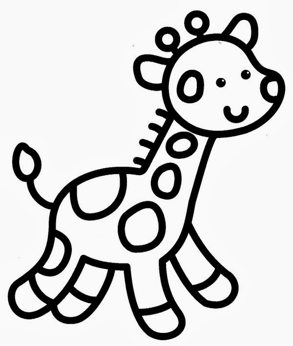 Dessin Girafe Simple