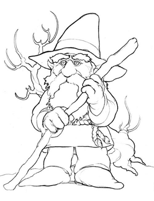 coloriage de gnomes