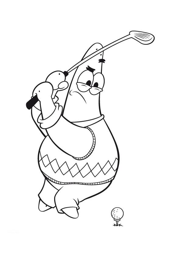 coloriage de golf