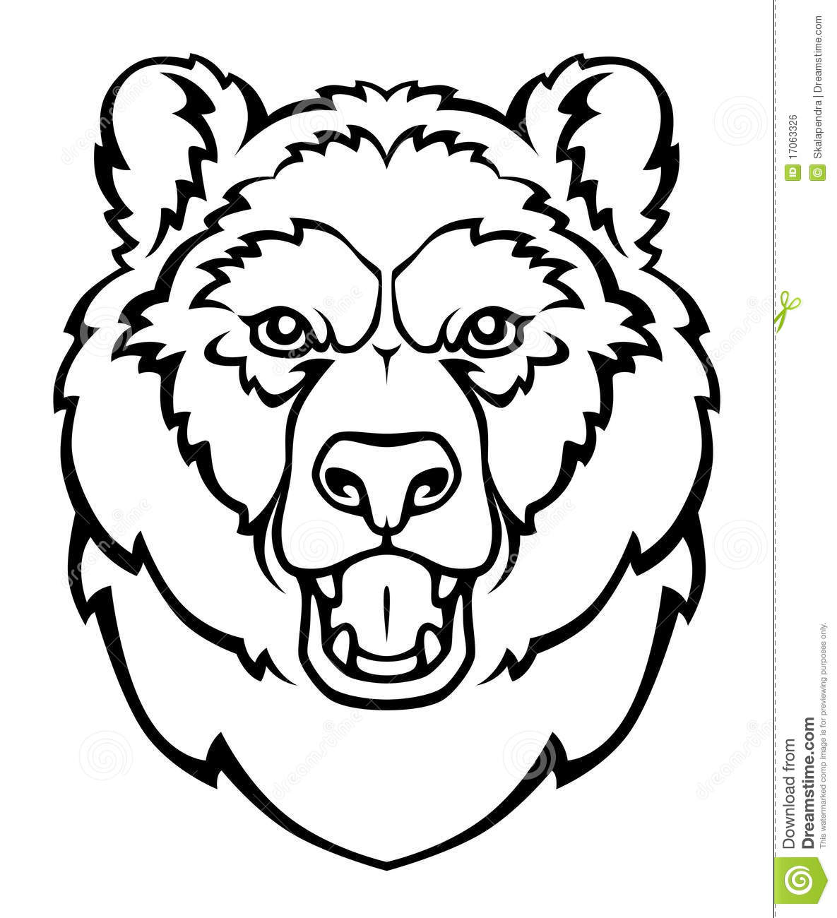 Coloriage grizzly les beaux dessins de nature imprimer - Dessin de grizzly ...