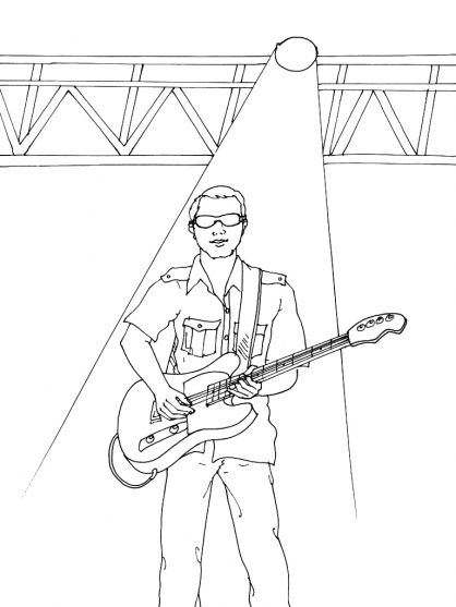 coloriage de guitariste