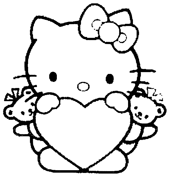 coloriage de hellokitty