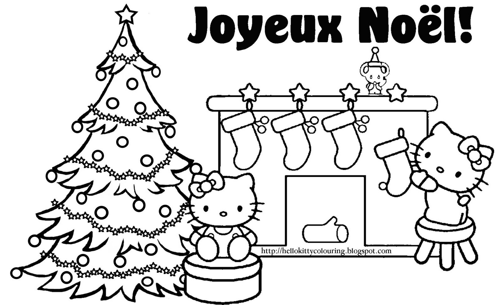 Dessin de Hello Kitty Noel   imprimer