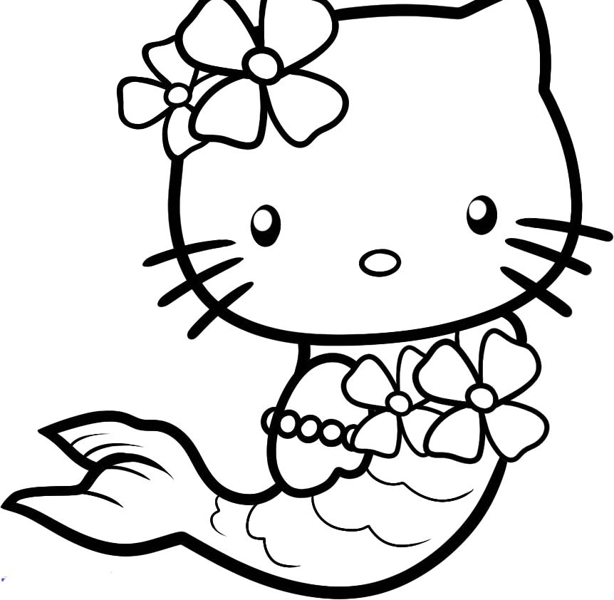 Coloriage hello kitty sirene les beaux dessins de for Nina needs to go coloring pages
