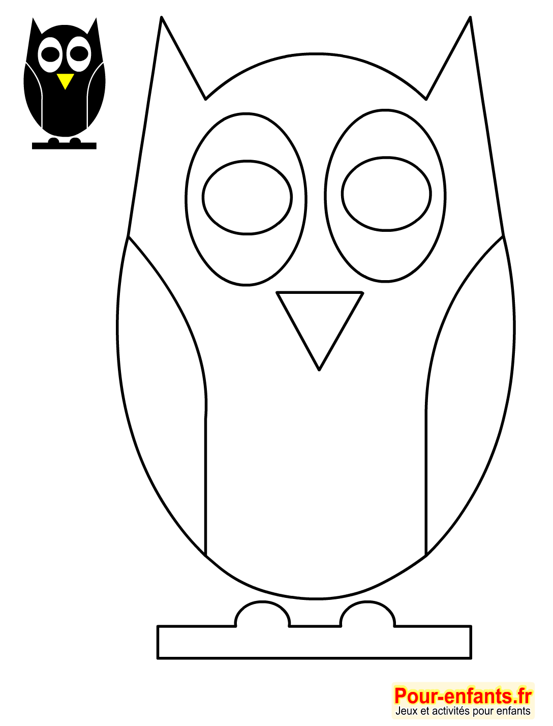 Dessin Simple Hibou