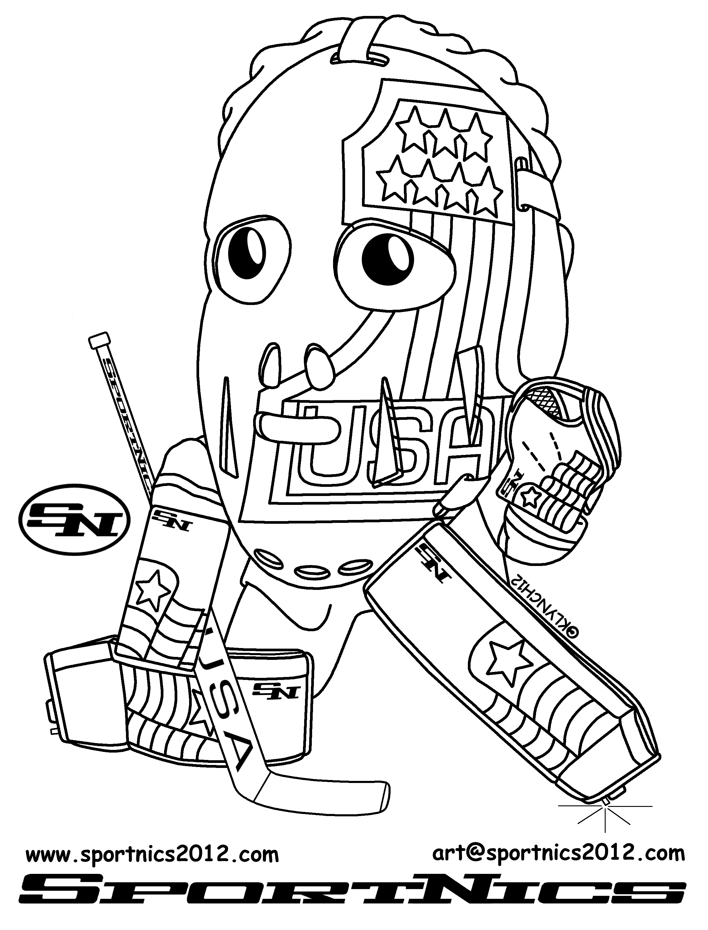 sports coloring pages hockey goalie - photo#18