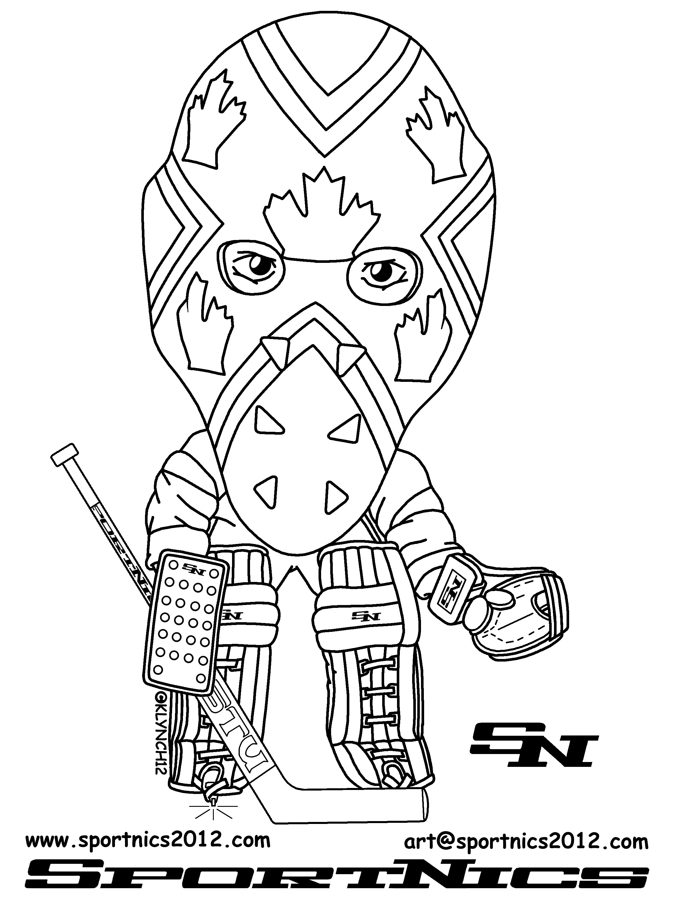 15 dessins de coloriage cin sketch coloring page - Dessin hockey ...