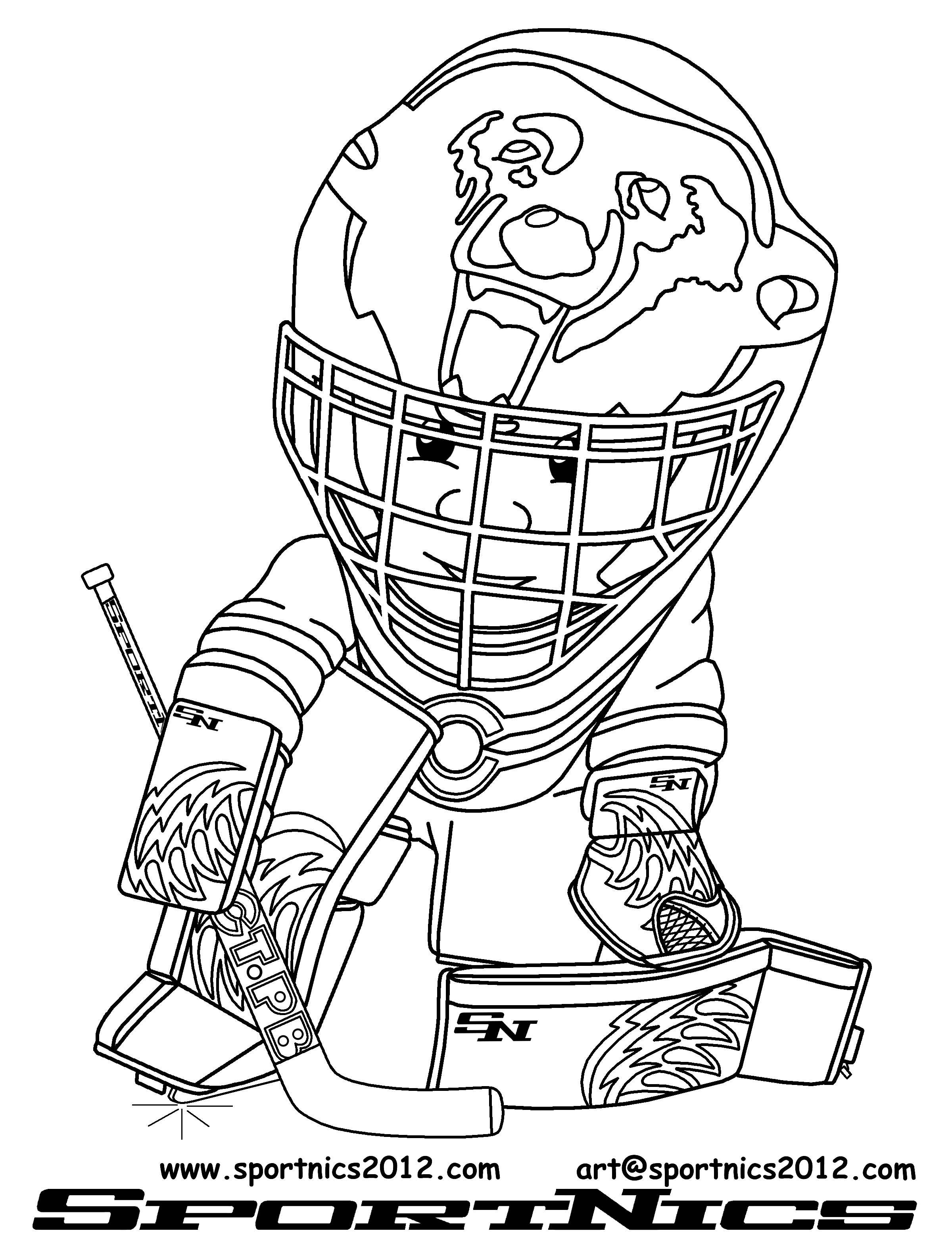 Nhl hockey coloring pages coloring pages - Dessin hockey ...