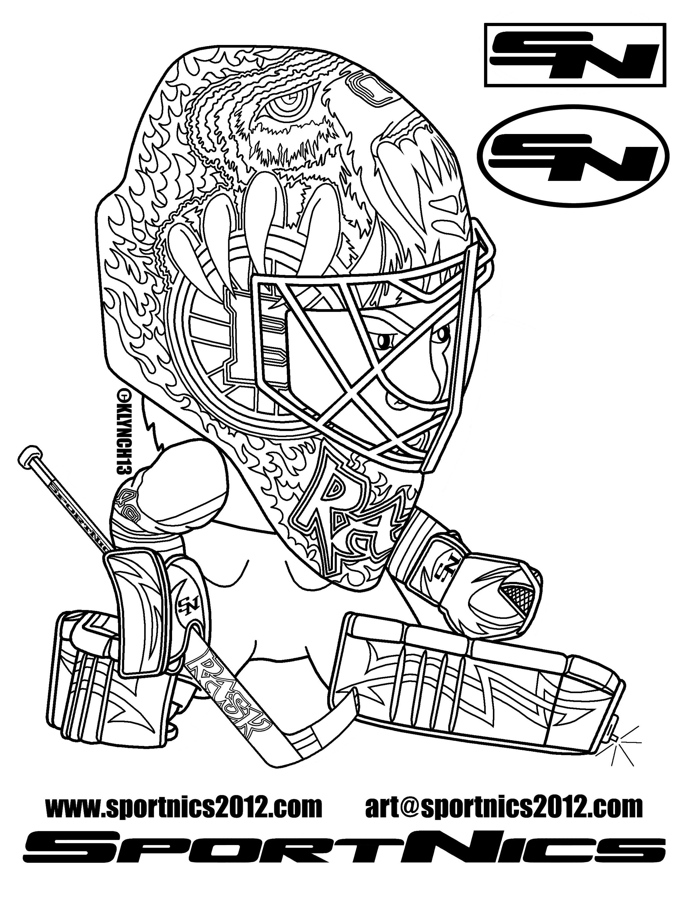 Luxe Dessin A Colorier Hockey Canadien