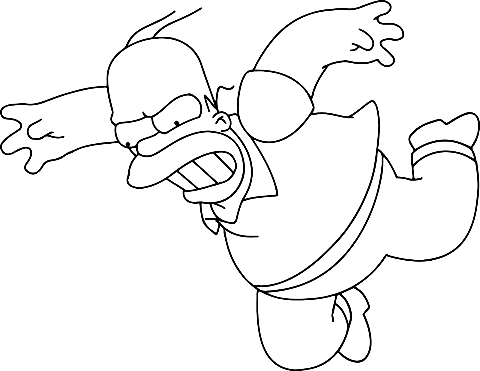 coloriage de homersimpson