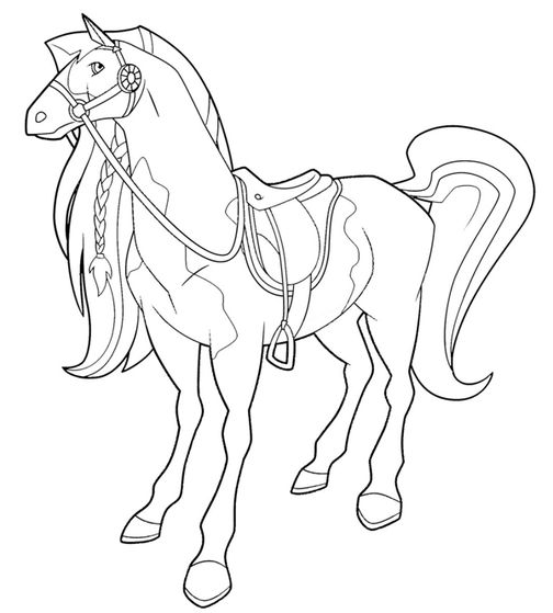 coloriage de horseland