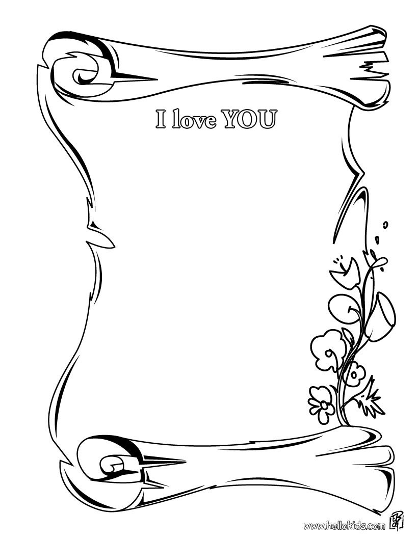 Dessin de I Love You   imprimer