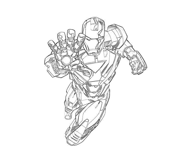 Mighty Avengers Coloring Pages : Coloriage ironman mighty micros iron man coloring page