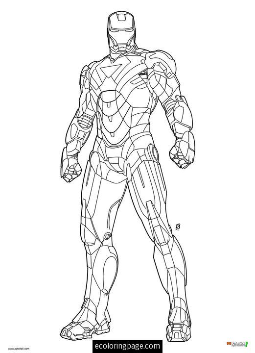 Coloriage iron man les beaux dessins de super h ros - Coloriage ironman ...