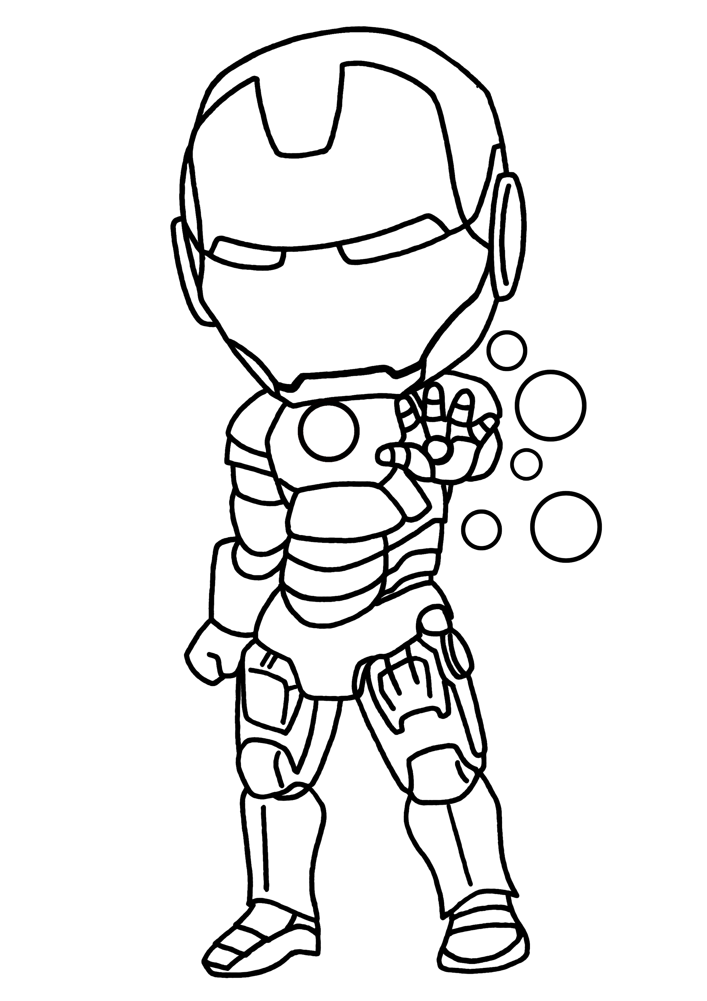 coloriage de ironman