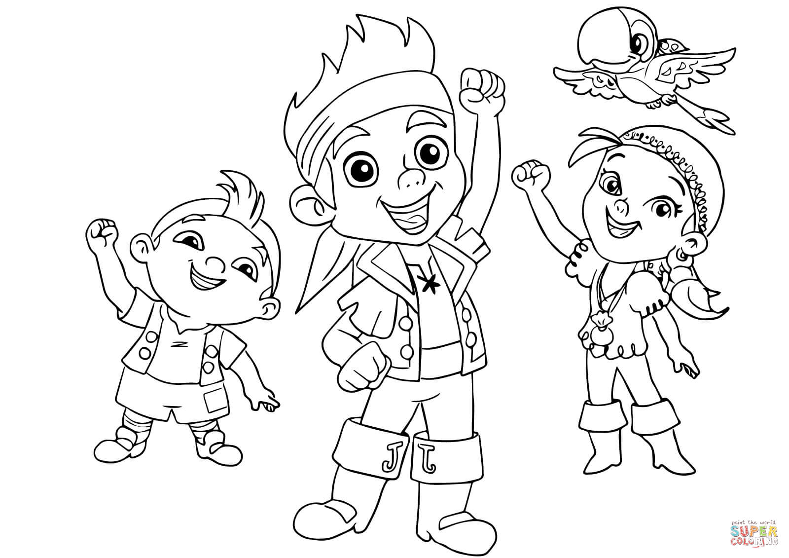 Coloriage jack et les pirates les beaux dessins de super - Coloriage jack le pirate ...