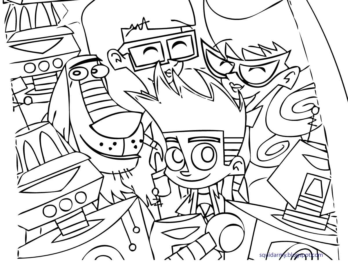 coloriage de johnnytest