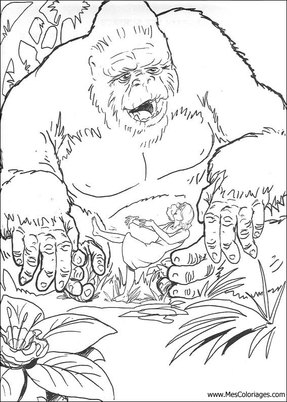 coloriage de kingkong