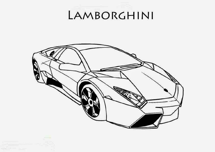 Coloriage lamborghini les beaux dessins de transport for Plans de dessins de porche