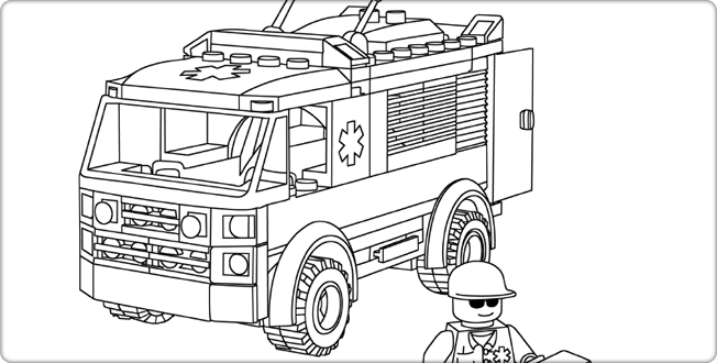 Lego City Coloring Pages Eskayalitim