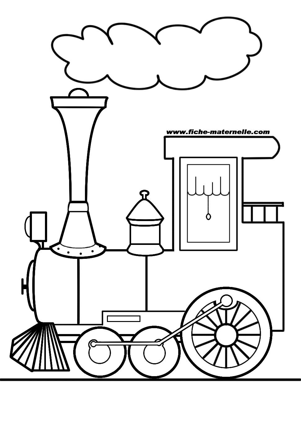 Coloriage locomotive les beaux dessins de transport imprimer et colorier - Dessin de transport ...