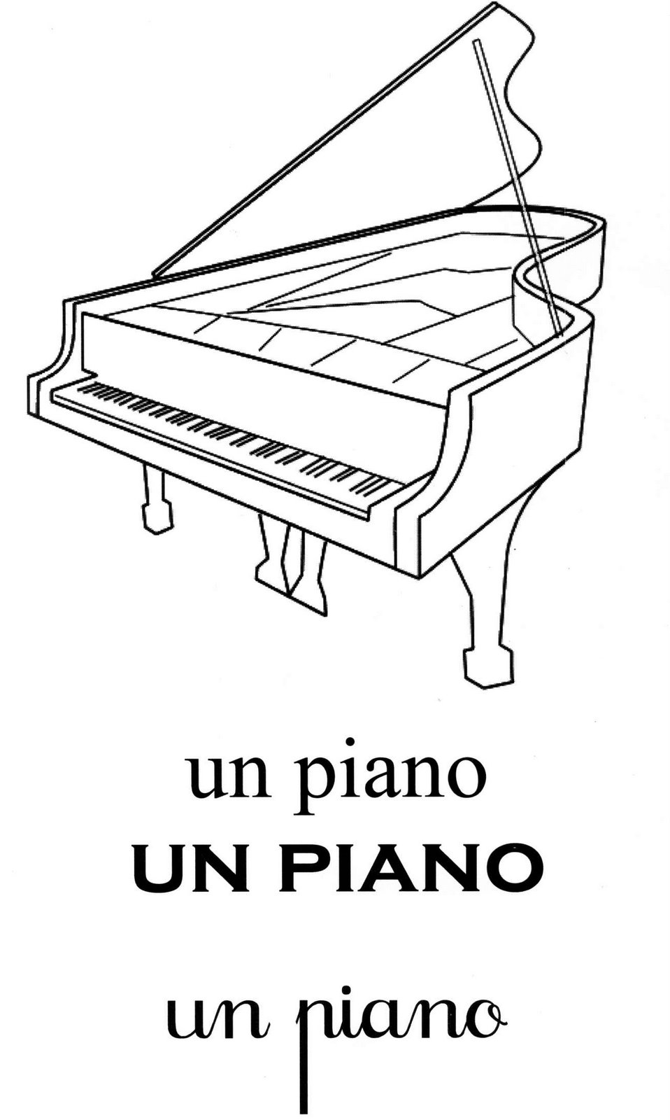 Coloriage magique addition les beaux dessins de - Coloriage piano ...