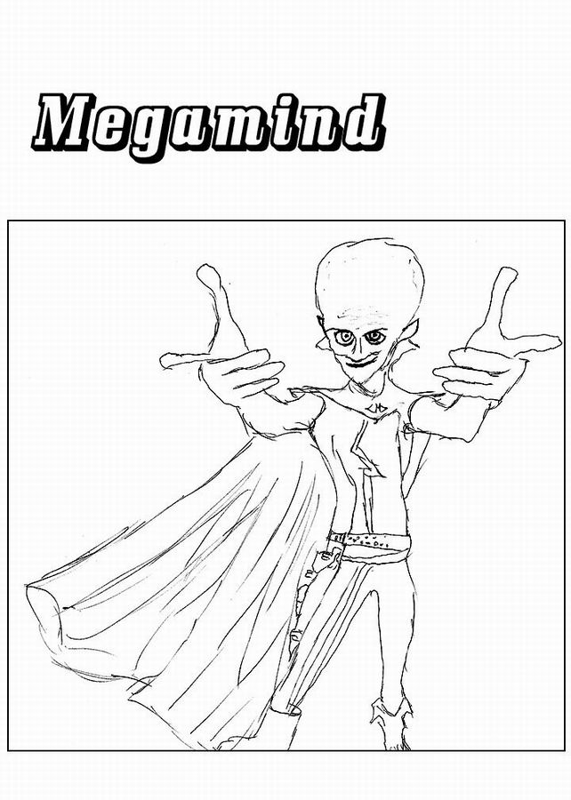 coloriage de megamind
