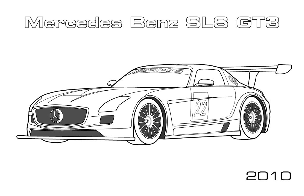 coloriage de mercedes