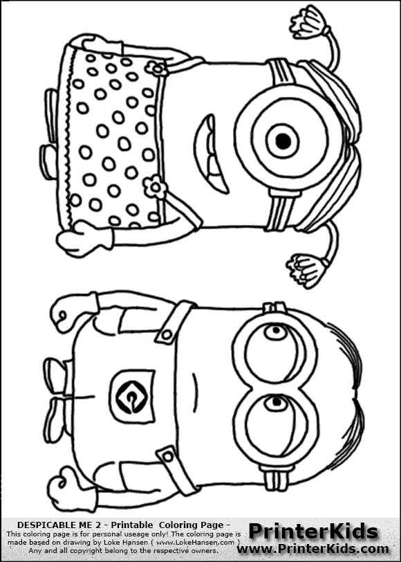 Despicable Coloring Pages Dave